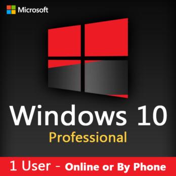 Microsoft Windows 10 Pro (1/2/5/20/50 Users)