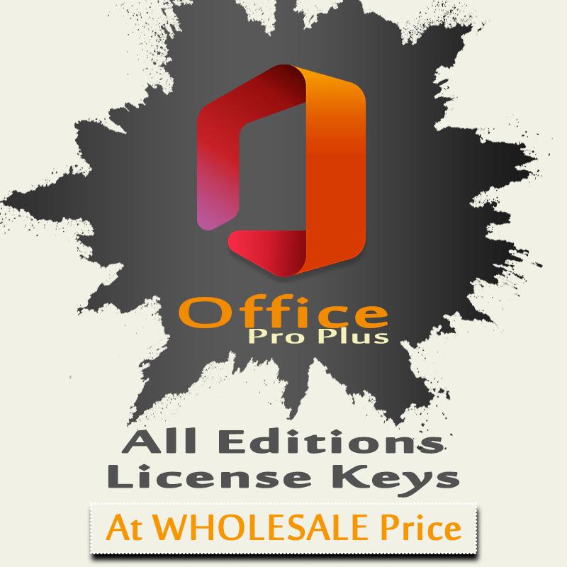 Microsoft Office Pro Plus License Key Activation Wholesale Price