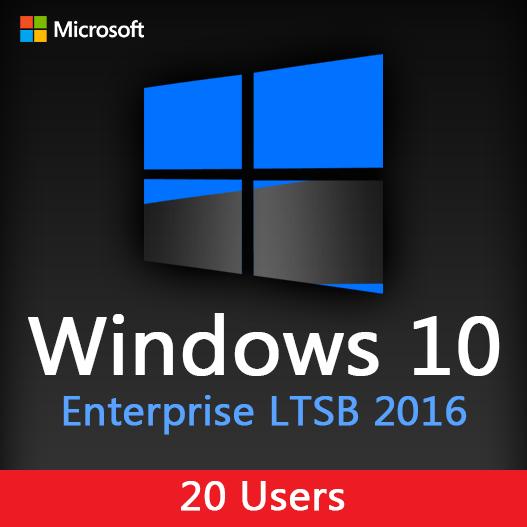 Windows 10 Enterprise LTSB 2016 for 20 Users