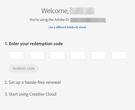 Adobe Creative Cloud activation