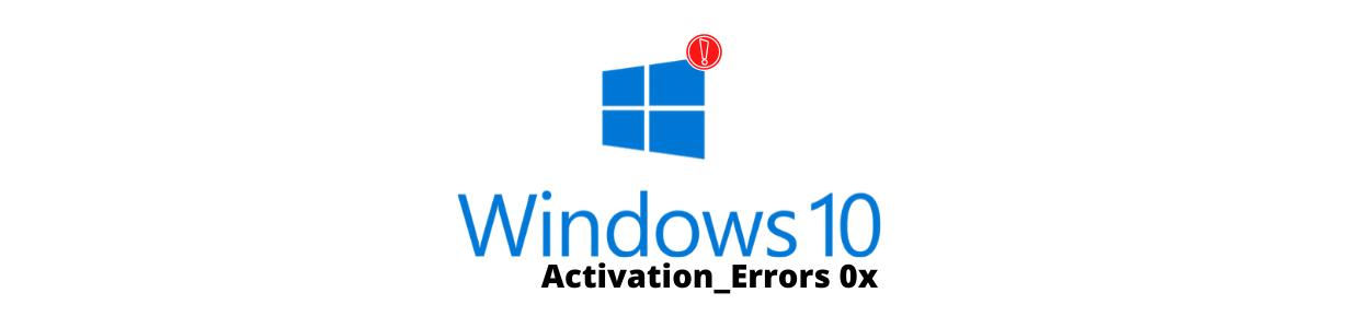 Fix Windows 10 activation errors