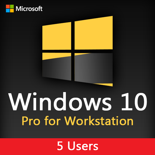 Microsoft Windows 10 Pro for Workstation license key for 5 users