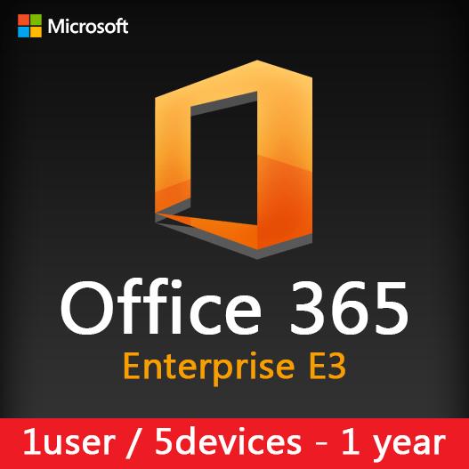 Microsoft Office 365 Enterprise E3 (1user - 5device) 1 year