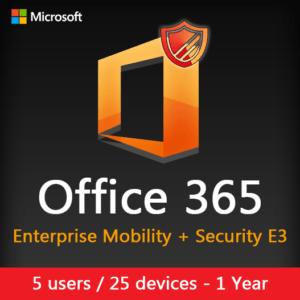 Microsoft Enterprise Mobility + Security E3 (1 Year Subscription) License Key