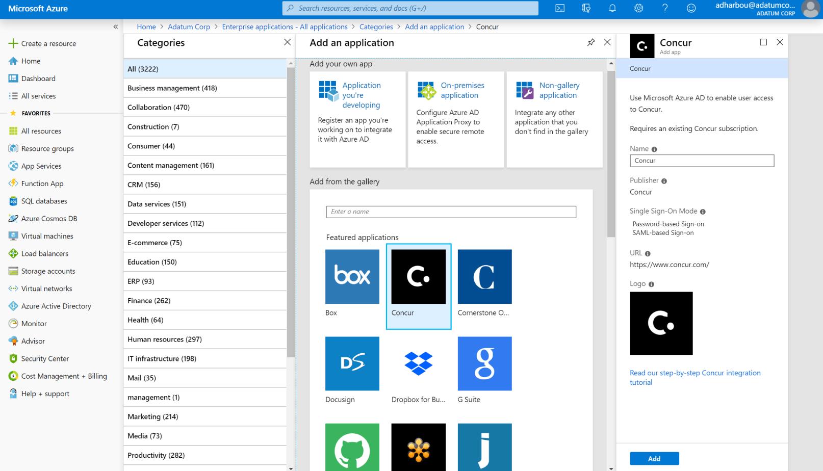 Azure Active Directory license key