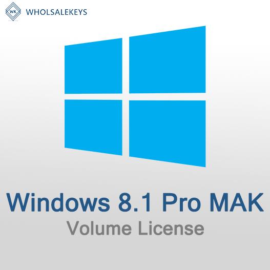 Windows 8.1 Pro Mak Volume License