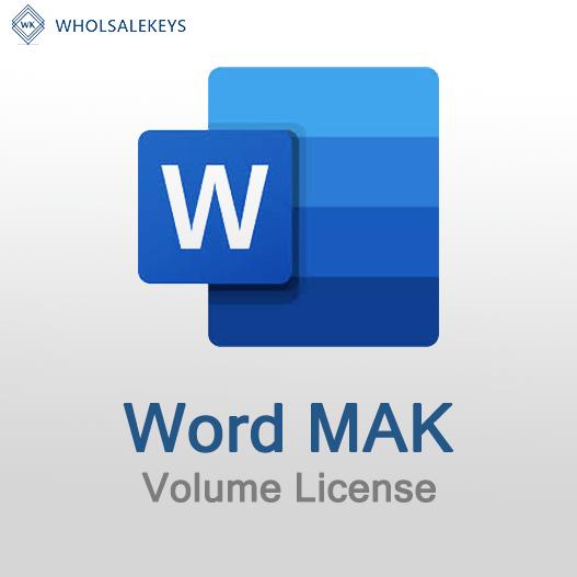 Word Mak Volume License