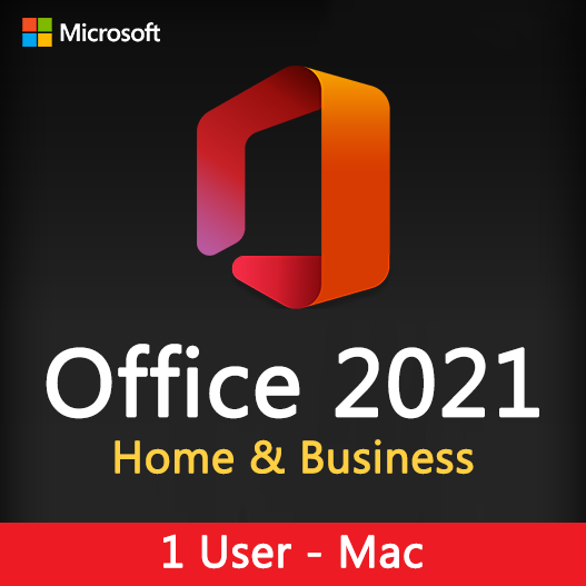 Office 2021 Home & Business for Mac License Key 1 User