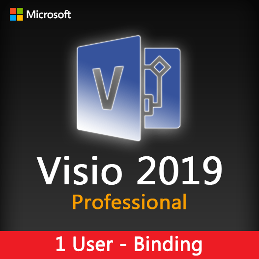 Visio 2019 Professional Binding License Key for 1 user