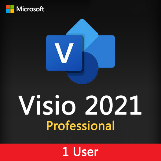 Visio 2021 Professional License Key for 1 user