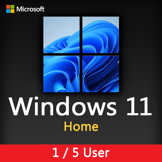 Windows 11 Home Activation License key for 1, 5 User